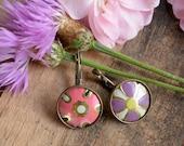 Vintage Tin Earrings - Star Bloom