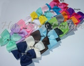 Pick 1 -Classic Hair Bows Four 4 inch  Hair Bows for Newborns Toddler/ baby/ girls