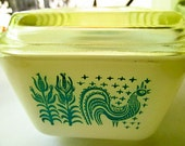Vintage Amish Butterprint Pyrex Ovenware And Refrigerator Dish, 1.5 Pint With Lid