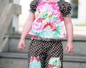 SALE - Pink Fig Patterns, Girl's Sewing Pattern, Olivia Top, Size 6 Months to 10 Years