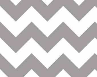 Large Chevron Fabric by Riley Blake Fabrics, Large Chevron in Gray, 1 Yard