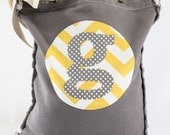 Build a Bag Custom Initial Patch Tote Bag