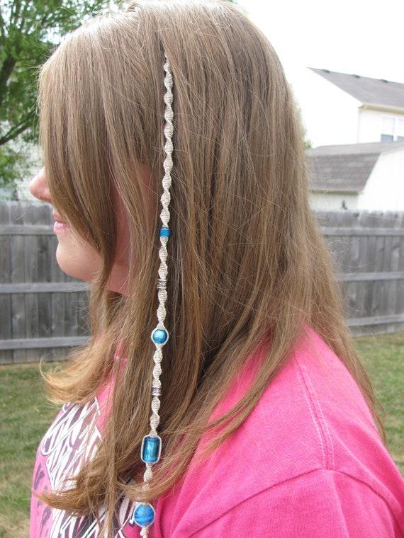 Hemp Hairwrap Beaded Extension