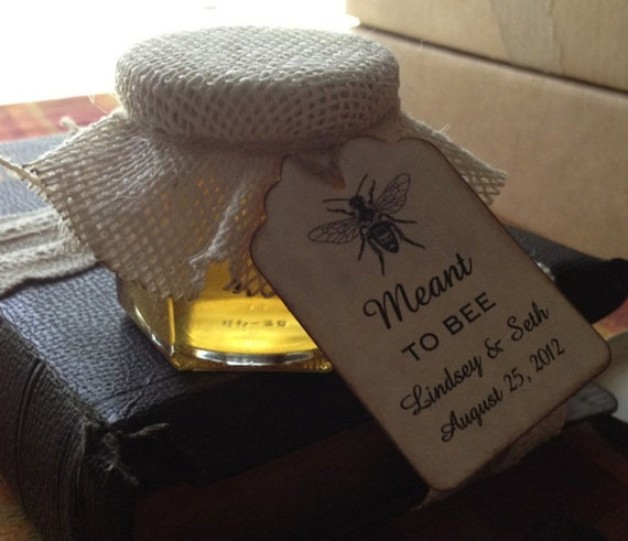Honey Wedding Favor Gift Tags For Honey Jar Favors Meant To
