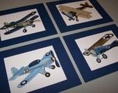 AIRPLANES boys nursery art, vintage airplanes boys art, airplan artwork, airplane beddin art, baby boy airplane nursery