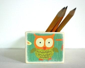 Green Polka Dot Woodland Creature Pencil Box