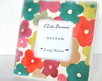 Watercolor Flowers Picture Frame