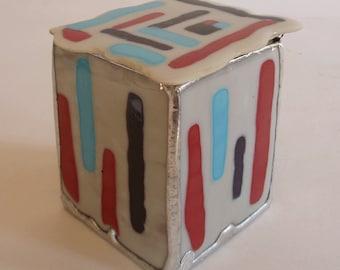 jewelry box - fused glass