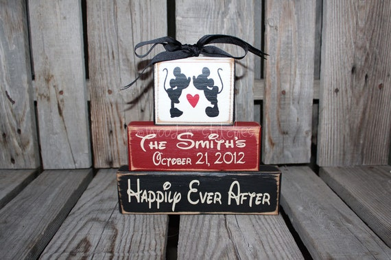 Personalized Disney Wedding Gifts: Mickey Mouse Disney Wedding Family Personalized Established