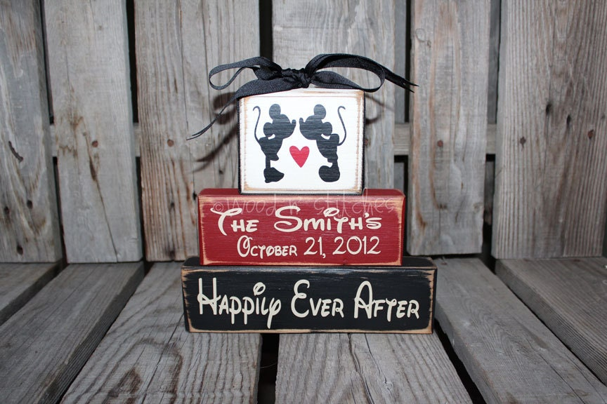 Mickey Mouse Disney Wedding Family Personalized Established