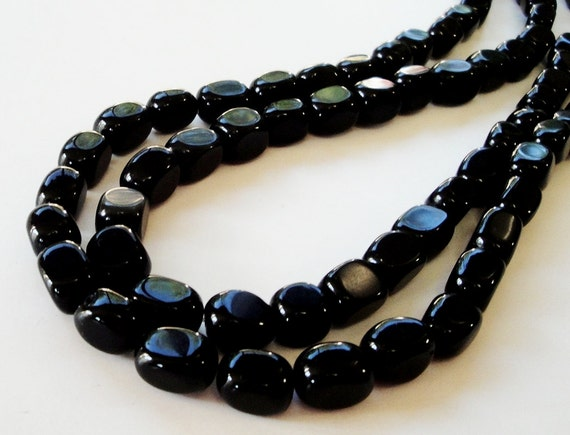 Black Square Cube Jasper Beads 16 Inch Strand/ Only Beads Not Finished Jewelry