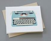 Typewriter Notecard
