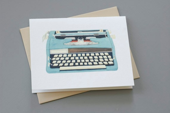 Typewriter Notecard