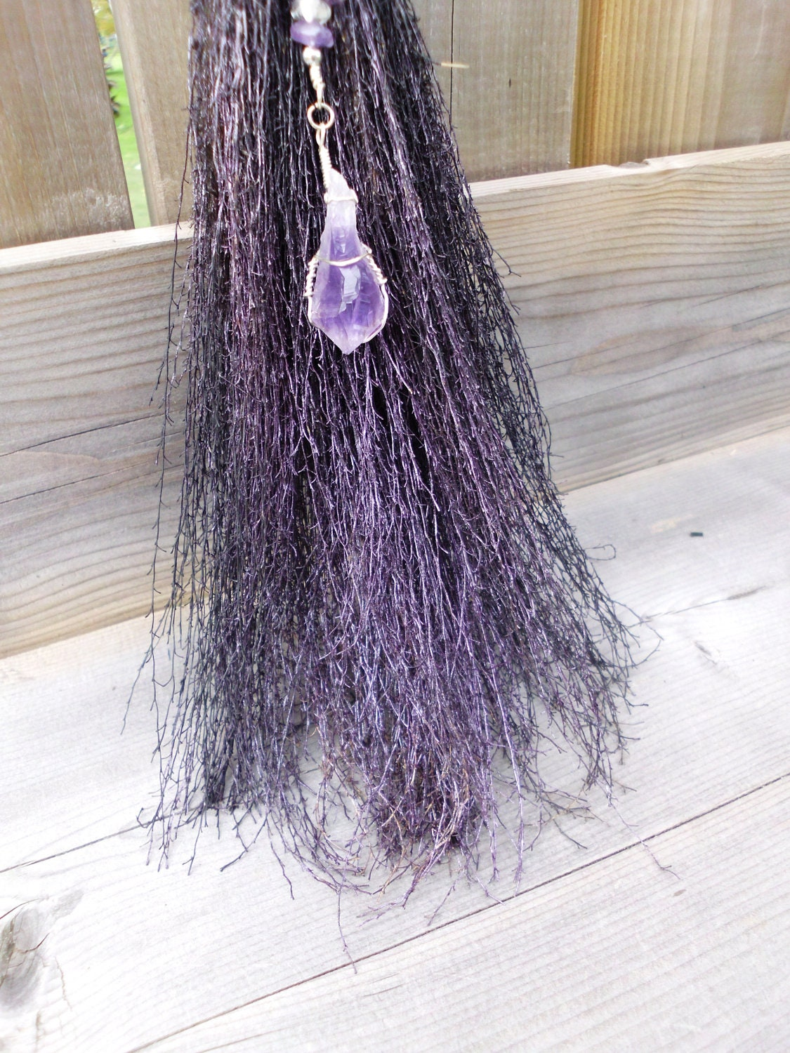 Witches altar besom wall decor for protection and for Altar wall decoration