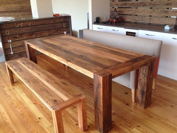 """CUSTOM for Olivia and George -- """"Corner Spot"""" Dining Table"""