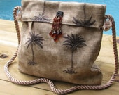 Embellished Palm Tree Purse