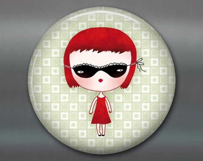 """3.5"""" little girl fridge magnet, girl decor, gift for girls, kitchen decor, big fridge magnet, large magnet, stocking stuffer for kids MA-105"""