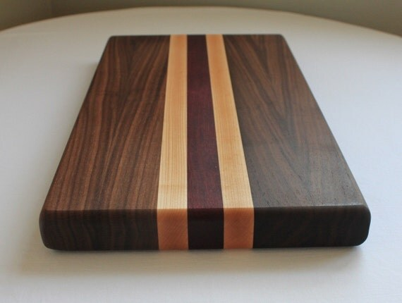 Walnut Maple Purpleheart Cutting Board