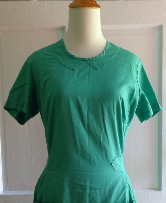 Green Vintage Scrub Dress Uniform By Angelica
