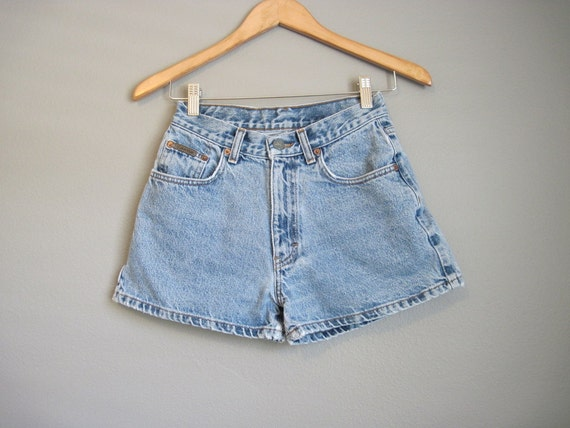 High Waisted Shorts Calvin Klein Jean Vintage Denim Hi Rise XS