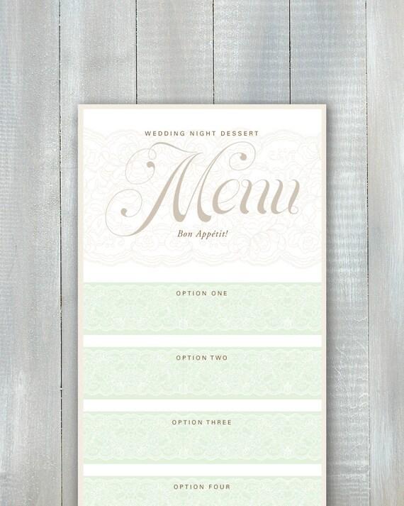Wedding Night Menu PDF