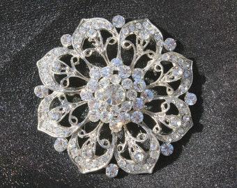 Rhinestone Brooch Pin - Rhinestone Crystal Brooch - Rhinestone Brooch- Style Allisa Rose