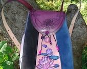 """Suede Backpack """"Lotus"""""""