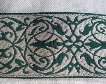 Garden Gate pattern belting KHAKI and dark GREEN