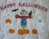 Halloween Wall Hanging Pumpkins, Scarecrow, Ghost, Bat - LakesideQuiltsMaine