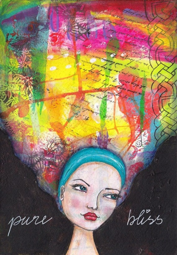 Pure Bliss - ORIGINAL mixed media painting