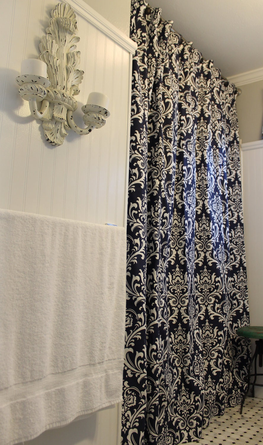 Navy Shower Curtain Viewing Gallery