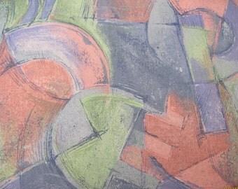 Modern Art Print Fabric  1/3 yd.