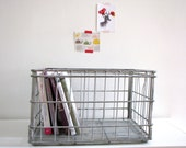 Large Milk Metal Crate