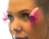 Pink and Purple Butterfly Wing Feather False Eyelashes