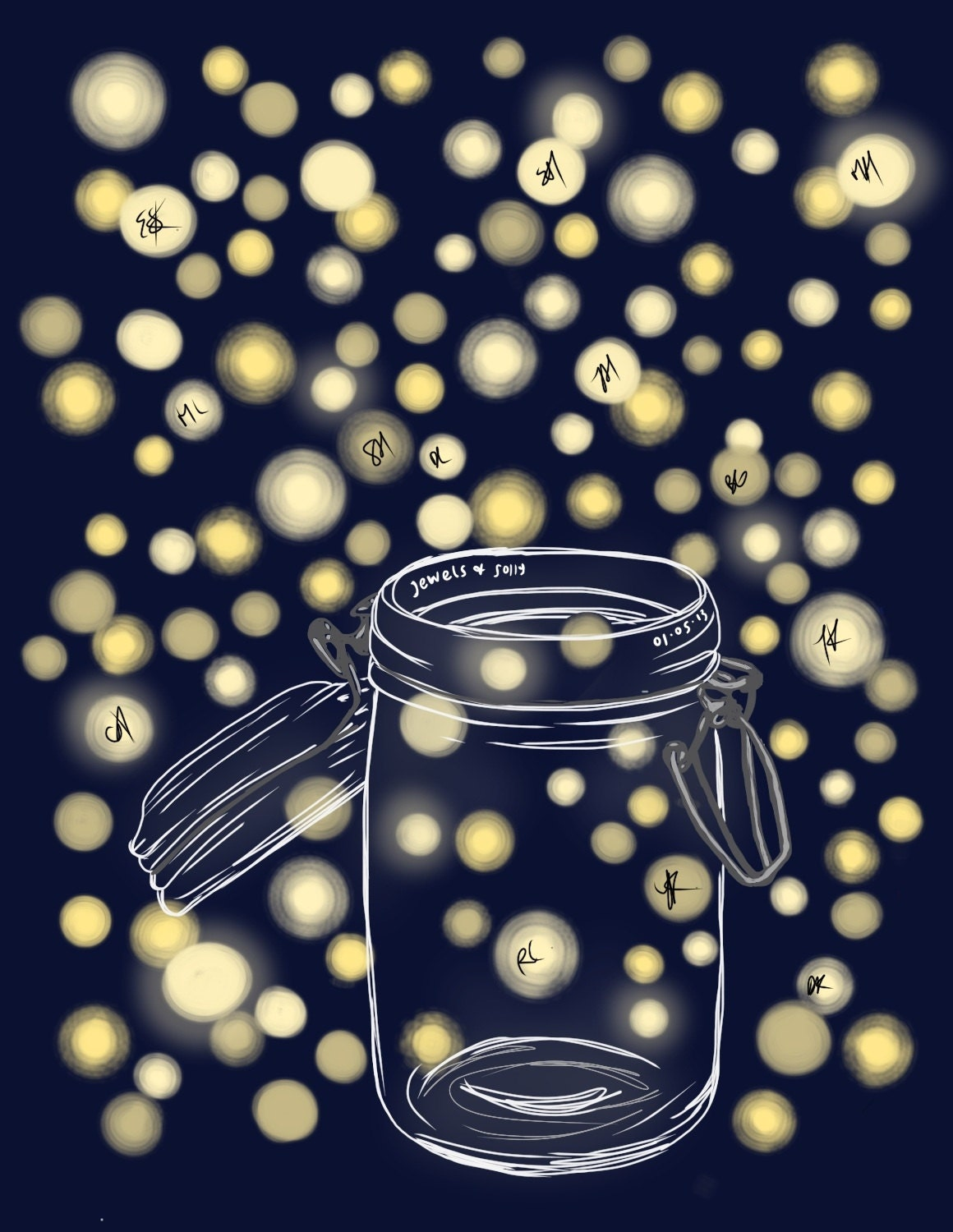 Firefly Jar Drawing
