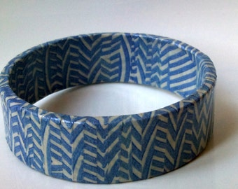 Vintage paper bangle - recycled jewelry -