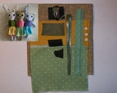 Rabbit Doll Kit- Brown, Yellow and Green