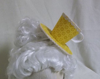 Teacup Fascinator- Golden Yellow