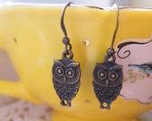 75% off enter LOVE2016.  Sweet Owl Earrings, Christmas Gift, Owl, Owl Jewelry, Simple
