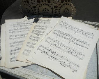 50% off this item, enter LOVE99 at checkout, Vintage Music Sheets, Gift Wrap, Valentine's Day Gift Wrap, Music Sheets, DIY, Wedding