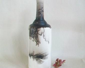 Horsehair  burned onto Porcelain Vase