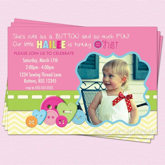 as button 1st birthday as a button 1st birthday invitations with