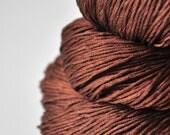 Cinnamon roll too long in the oven - Silk Fingering Yarn
