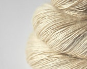 Ghost - natural Tussah Silk Fingering Yarn