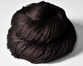 Burnt cacao beans - Silk Fingering Yarn - Black Friday sale: 15% off with code CYBERMONDAY