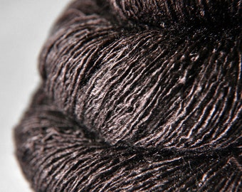 Boiling Cacao - Tussah Silk Lace Yarn