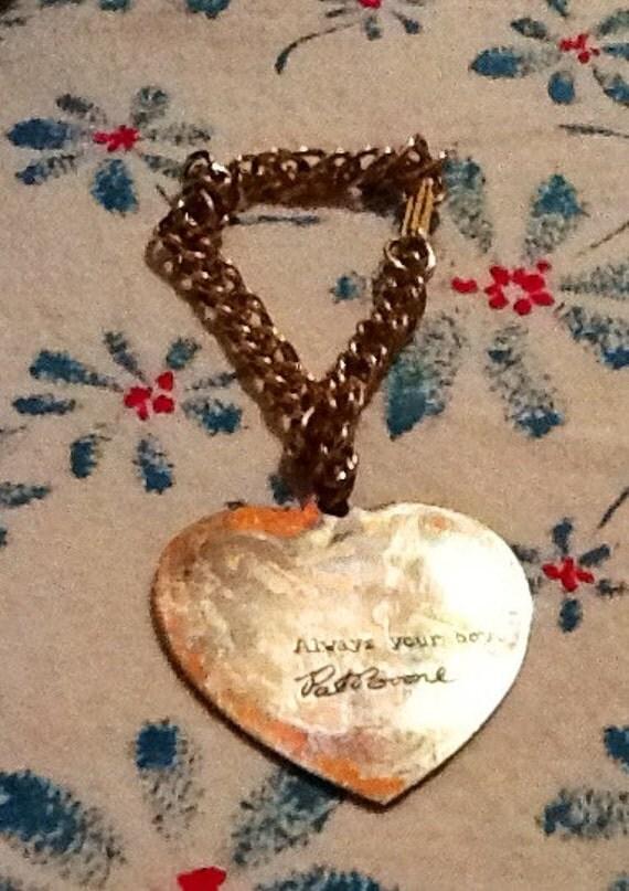 FOR VIOLET    Vintage 1950s Handsome Pat Boone Charm Bracelet, Rockabilly,rock and roll era