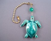 Sea Turtle Tropical Ceiling Fan Pull, Pottery