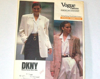 DKNY, Donna Karan New York, Vogue American Designer Jacket, 1980s, Pattern no. 2373, size 12 - 16 Uncut