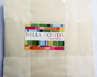 "Bella Solids Layer Cake Snow- 42- 10"" x 10"" squares- 9900LC 11"